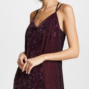 Anthropologie Splendid Burgundy Velvet Dress Small